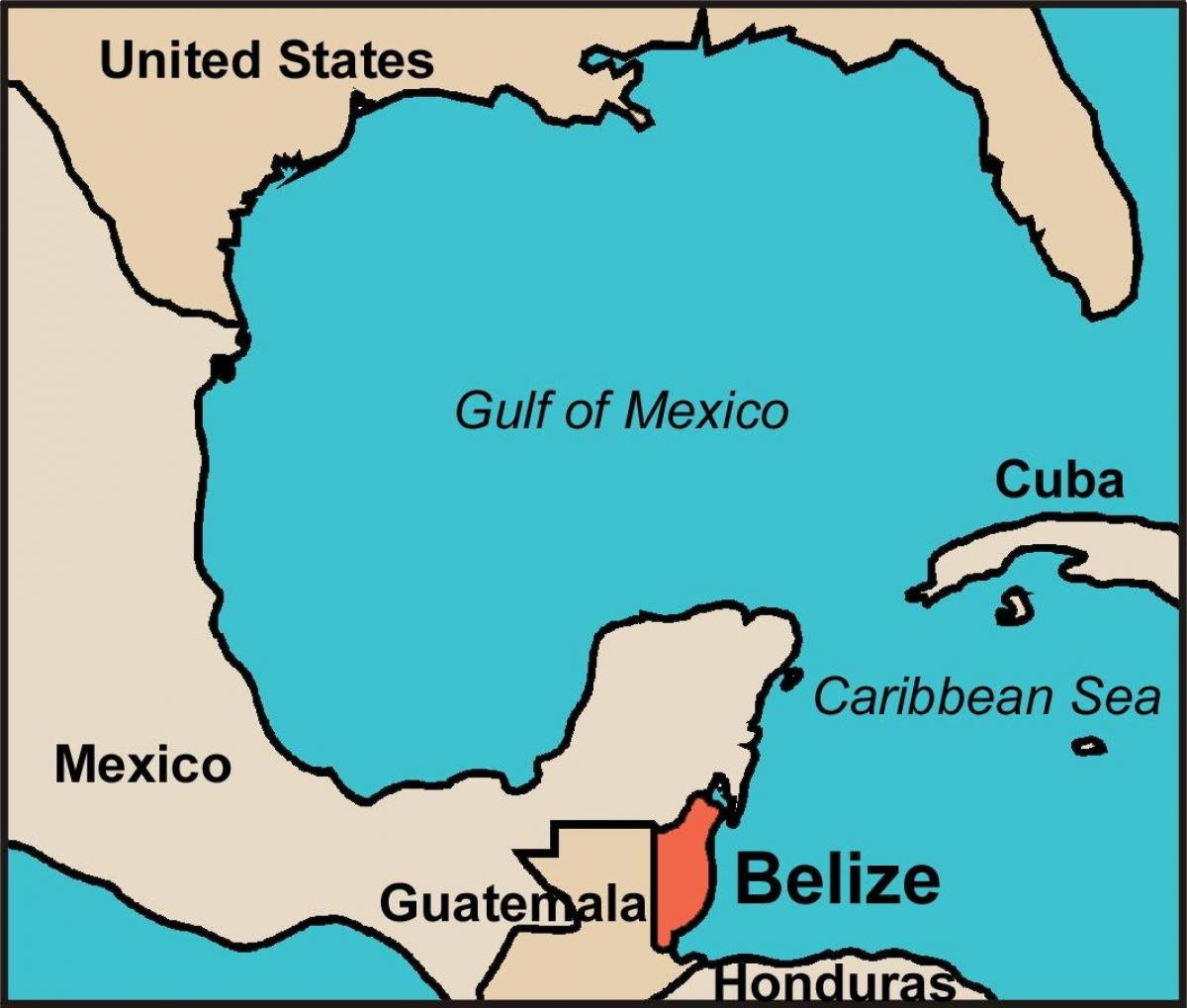 Belize Karte.Karte Von Belize Belize Country Map Mittelamerika