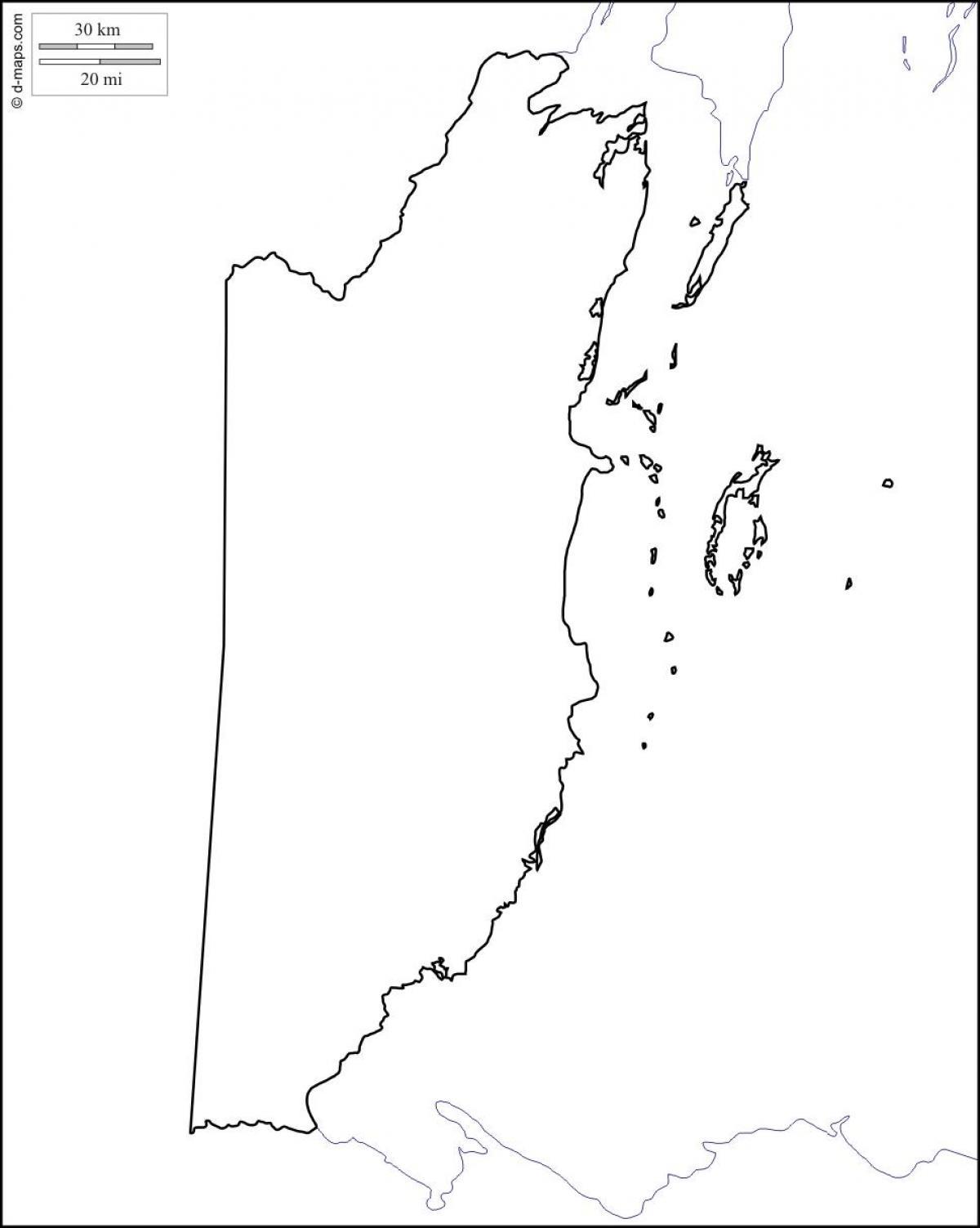 Leere Karte Von Belize Karte Leer Belize Mittelamerika